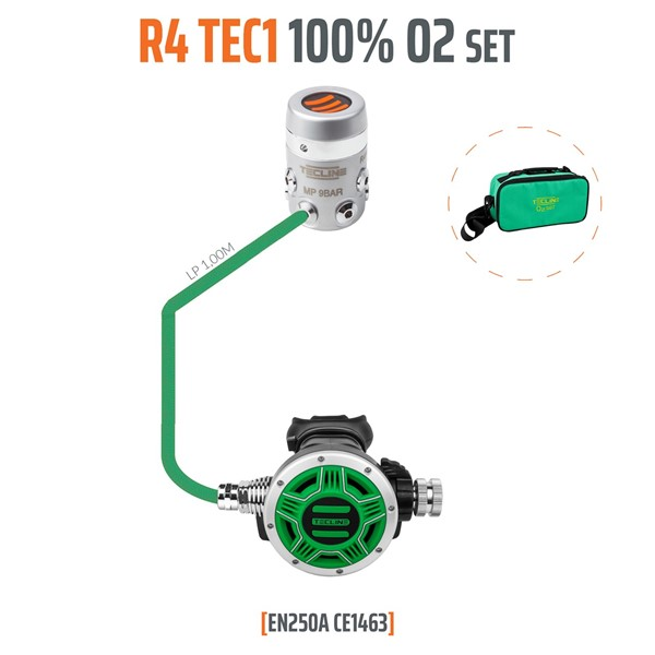 Bild von TecLine - REGULATOR R4 TEC1 100% O2 M26X2, STAGE SET - EN250A