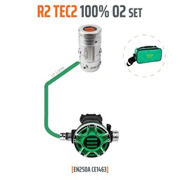 Bild von TecLine - REGULATOR R2 TEC2 100% O2 M26X2, STAGE SET - EN250A