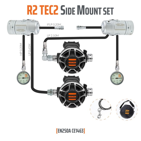 Bild von TecLine - REGULATOR R2 TEC2 SIDE MOUNT SET - EN250A