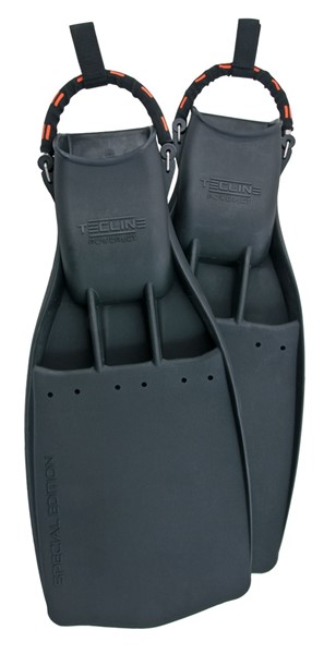 Bild von TecLine RUBBER FINS POWERJET, WITH SS SPRING STRAPS - MEDIUM HARD